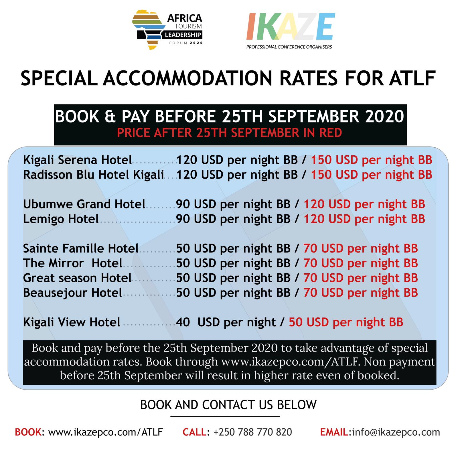 Special rates for ATLF