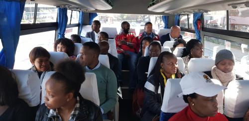 Delegates in a Bus to Constitution Hill